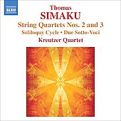 Simaku: String Quartets no 2 & 3, etc / Kreutzer Quartet