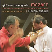 Mozart: Violin Concertos, Sinfonia concertante / Abbado, Carmignola, Waskiewicz, et al