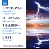Piano Recital: Beethoven: Sonata no 23; Schumann: Kinderszenen; Thalberg: Grande fantaisie, Op. 63; Liszt: Totentanz / Valentina Lisitsa, piano