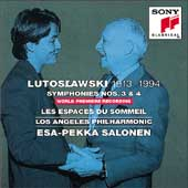 Lutoslawski: Symphonies 3 & 4, etc / Salonen, Los Angeles PO