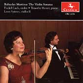 Martinu: The Violin Sonatas / Lack, Spierer, Hester