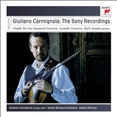 Giuliano Carmignola: The Complete Sony Recordings - Violin Concertos by Vivaldi & Locatelli; J.S. Bach: Violin Sonatas; works by Weiss, Kropfgans, Kohaut, Rust / Giuliano Carmignola, baroque violin