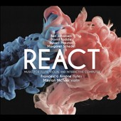 React: Music for Flute, Violin, and Interactive Computer by Ben Johansen, David Taddie, Russell Pinkston, Margaret Schedel / Francesca Arnone, flutes; Mikylah McTeer, violin