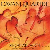 Shostakovich: Quartets for Strings no 1, 7 & 14 / Cavani