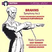 Brahms: Symphony no 2, Violin Concerto / Furtw&auml;ngler, et al