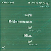 John Cage Edition - Works for Violin 3 / Arditti, Miyata