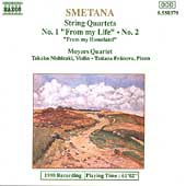 Smetana: String Quartets no 1 & 2, etc / Moyzes Quartet