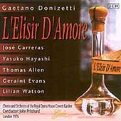 Donizetti: L'Elisir d'Amore / Carreras, Allen, Pritchard