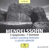 Mendelssohn: 5 Symphonies, 7 Overtures / Abbado, London SO