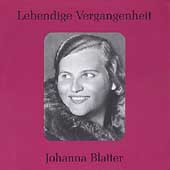 Lebendige Vergangenheit - Johanna Blatter