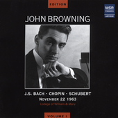 The John Browning Edition Vol 1 - Bach, Chopin, Schubert
