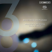 Beethoven: Symphonies no 3 & 8 / V&#228;nsk&#228;, Minnesota Orchestra
