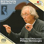 Beethoven: Symphonies  no 1 & 3 / Herreweghe, Royal Flemish Philharmonic