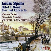 Spohr: Octet in E major; Clarinet Concerto No. 1; Nonet in F major / Gervase de Peyer, clarinet; Vienna Octet; Fine Arts Quartet (stereo, 1958-61)