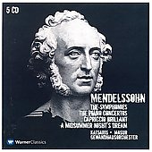 Mendelssohn: Symphonies, Piano Concertos, etc / Masur, et al