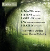 Works for String Orchestra by Benjamin, Stevens, Panufnik, Bax & Berkeley / The Boyd Neel Orchestra; Boyd Neel. London Chamber Orchestra; Anthony Bernard