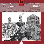 Bonporti: Invenzioni;  Bach: Sonatas for Violin & Continuo