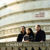 Schubert: Piano Trios / Philip Setzer, violin; Wu Han, piano; David Finckel, cello