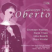 Verdi: Oberto, etc / Simonetto, Wolf-Ferrari, Vitale, et al