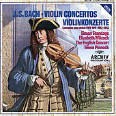 Bach: Violin Concertos / Standage, Wilcock, Pinnock