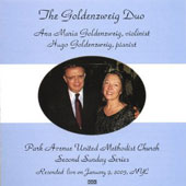 The Goldenzweig Duo at the Park Avenue United Methodist Church