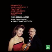 Prokofiev: Violin Concerto No. 1; Glazunov: Violin Concerto; Shchedrin: Stikhira / Anne-Sophie Mutter, violin; Nation SO, Rostropovich