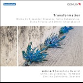 'Transformation' - Glazunov: Quartet, Op. 109; Sofia Gubaidulina (b.1931): Transformation; Elena Firsova (b.1950): Night; Shostakovish: Two Pieces for String Quartet / sonic.art Saxophone Quartet