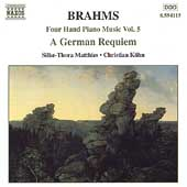 Brahms: Four Hand Piano Music Vol 5 / Matthies, Köhn