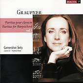Graupner: Partitas for Harpsichord Vol 1 / Geneviève Soly
