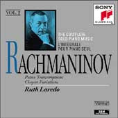 Rachmaninov: Complete Solo Piano Music Vol 2 / Ruth Laredo