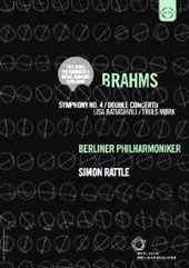 Wagner: Parsifal Prelude; Brahms: Symphony No. 4; Double Concerto / Lisa Batiashvili, violin; Truls Mork, cello; Rattle, Berlin PO (Includes EuroArts Video catalog) [DVD]
