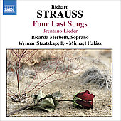 R. Strauss: Four Last Songs, etc / Merbeth, Hal&aacute;sz