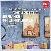 Mussorgsky: Pictures at an Exhibition;  Borodin: Symphony no 2, etc / Rattle, Berlin PO
