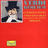 Verdi: Requiem / Serafin, Pinza, Gigli, Caniglia, etc