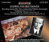 Beethoven: Recordings during War Time (1940-1944) - Beethoven: Symphonies nos 3-7, 9; Piano Concerto no 4; Violin Concerto et al. / Furtwangler [6 CDs]