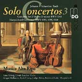 Bach: Solo Concertos Vol 3 / Musica Alta Ripa