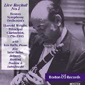 Live Recital no 1 / Harold Wright
