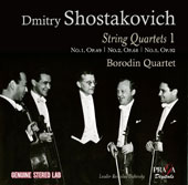 Shotakovich: String Quartets Vol. 1 - No. 1 Op. 49, No. 2 Op. 68, Op. 5 Op. 92 / Borodin Quartet