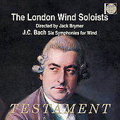 J.C. Bach: Six Symphonies / Brymer, London Wind Soloists