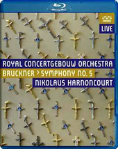 Bruckner: Symphony No. 5 / Royal Concertgebouw Orchestra; Harnoncourt [Blu-ray]