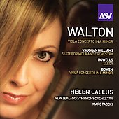 Walton: Viola Concerto;  Bowen, etc / Callus, et al