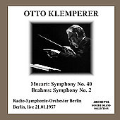 Mozart: Symphony no 40;  Brahms: Symphony no 2 / Klemperer