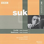 Beethoven, Dvor&aacute;k: Violin Concertos / Suk, Sargent