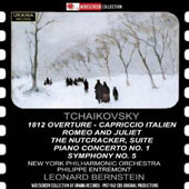 Tchaikovsky: 1812 Overture; Capriccio Italien; Romeo and Juliet; et al. / Philippe Entremont, piano; New York Phil.; Bernstein