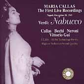 Maria Callas - First Live Recordings - Verdi: Nabucco