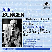 Julius Burger: Cello Concerto, etc / Beiser, Young, et al
