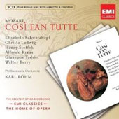 Mozart: Cosi Fan Tutte / Karl B&ouml;hm, Elisabeth Schwarzkopf, et al