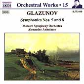 Glazunov: Orchestral Works Vol 15 / Anissimov, Moscow SO
