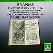 Brahms: Ein Deutsches Requiem / Barenboim, Chicago SO