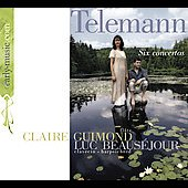 Telemann: 6 Concertos for Flute and Harpsichord TV 42 / Guimond, Beauséjour